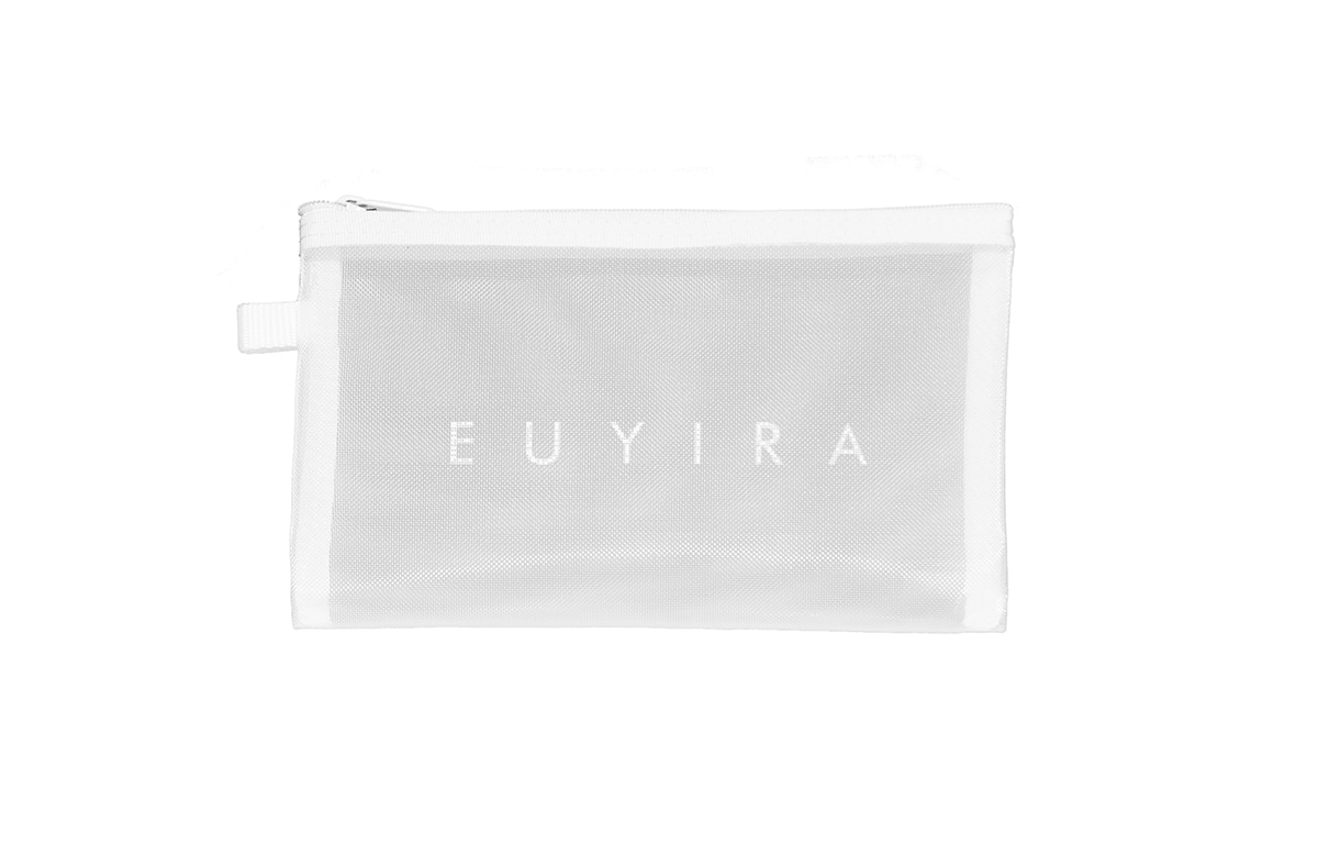 EVERYDAY ESSENTIAL PURE WHITE MESH POUCH